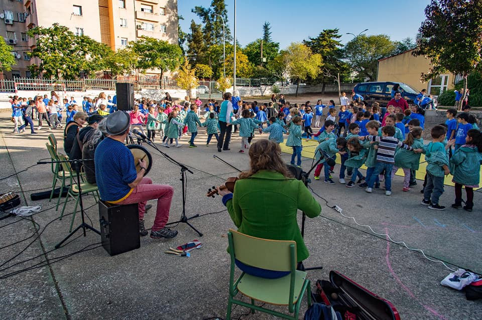 CÁCERES IRISH FLEADH - school workshop