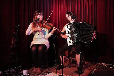 Hannah and Claudia at GreenNote.jpg
