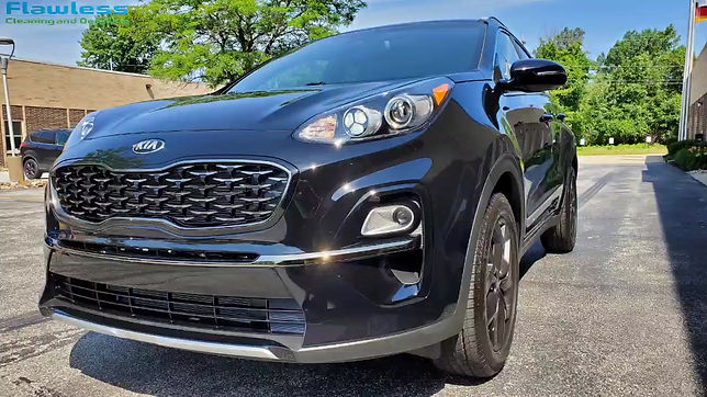 Kia Sportage machine polished and graphene coating applied for years of protection.