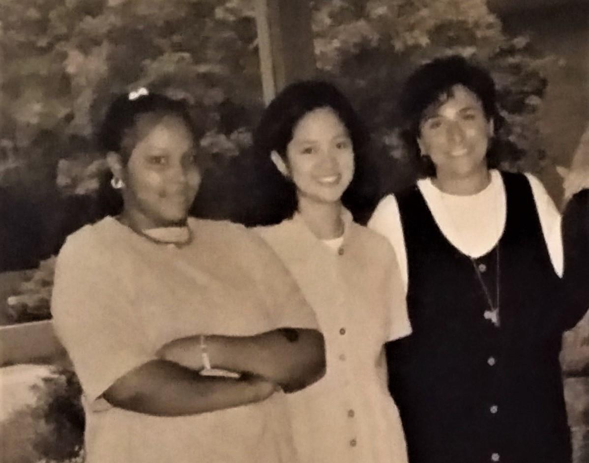 COCA opening 1996 Ingrid, Mariel, Cathy.