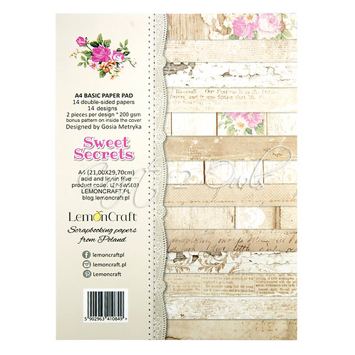 Sweet Secrets A4 - 14 doubled-sided papers