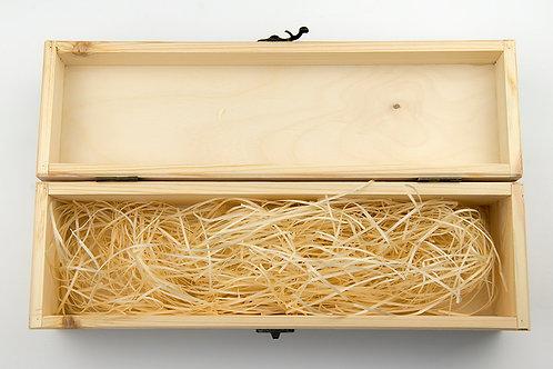 Hinged Wooden Wine Box