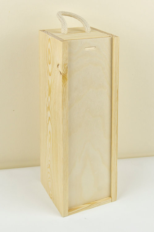 Wooden Wine Box with sliding lid