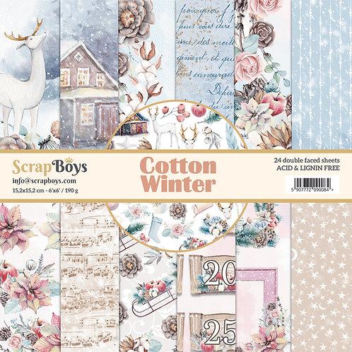 ScrapBoys Cotton Winter 6x6 Paper Pad - COWI-09