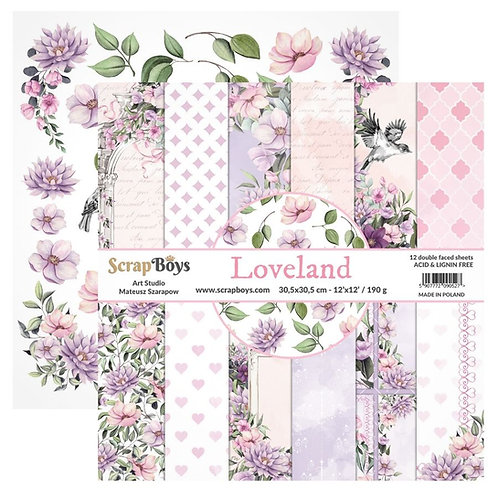 ScrapBoys Loveland 12x12 Paper Pad - LOLA-08
