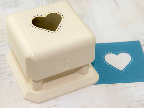 Martha Stewart STUDDED HEART Paper Punch All Over The Page