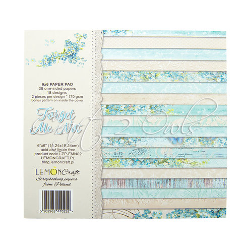 6x6 Forget Me Not - pad of scrapbooking papers