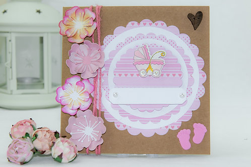 Baby card - baby carriage