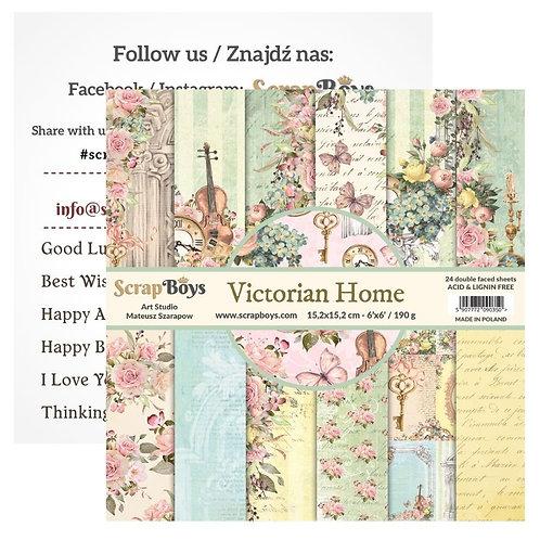 ScrapBoys Victorian Home 6x6 Paper Pad -VIHO-09