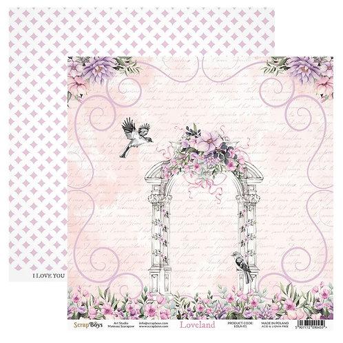 ScrapBoys Loveland 12x12 Paper - LOLA-01