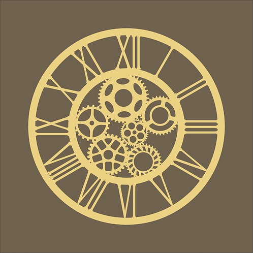 Clock with cogs 01