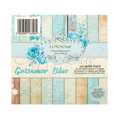 6x6 Gossamer Blue - pad of scrapbooking papers