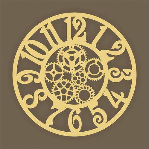Clock with cogs 02