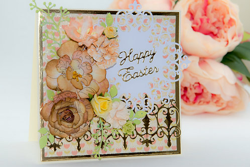 Happy Easter - with flowers