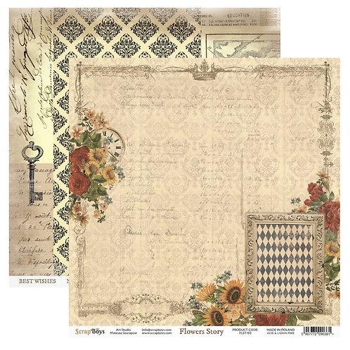 ScrapBoys Flower Story 12x12 Paper - FLST-03