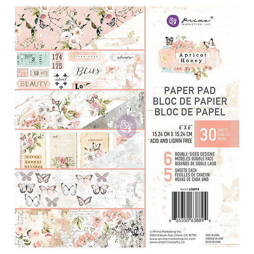Prima 6x6 Apricot Honey - paper pad