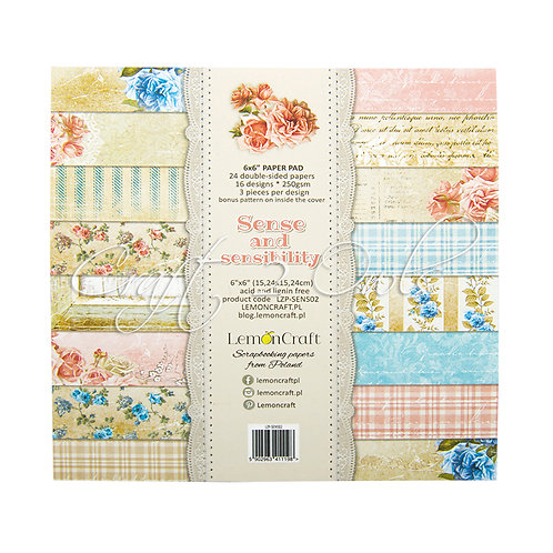 6x6 Sense and Sensibility- pad of scrapbooking papers
