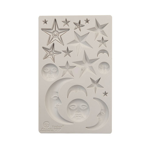 "Finnabair Mould Stars and Moons 5""x8"""