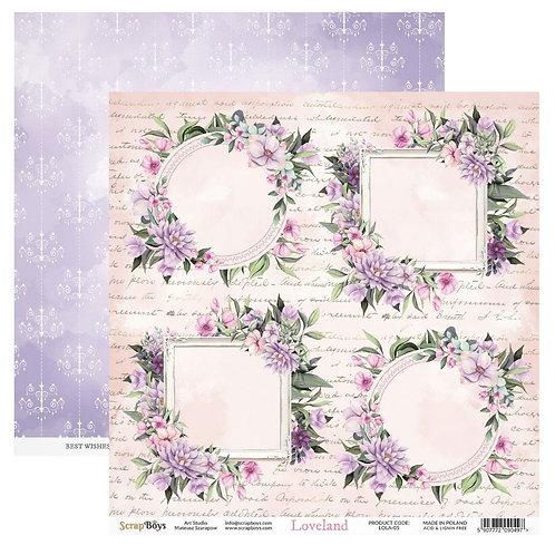 ScrapBoys Loveland 12x12 Paper - LOLA-05