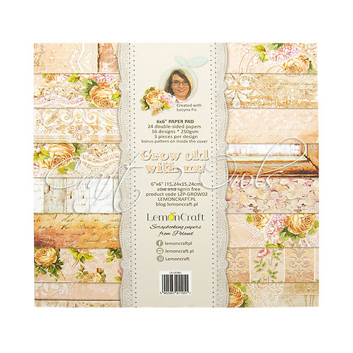 6x6 Grow Old with Me - pad of scrapbooking papers