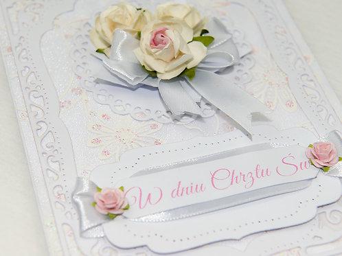 Christening card white