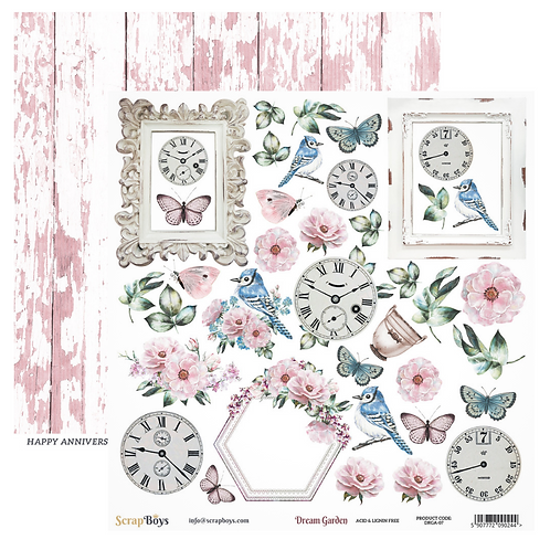 ScrapBoys Dream Garden 12x12 Paper - DRGA-07