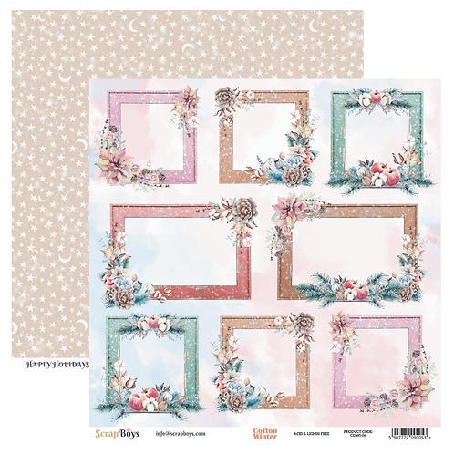 ScrapBoys Cotton Winter 12x12 Paper - COWI-06