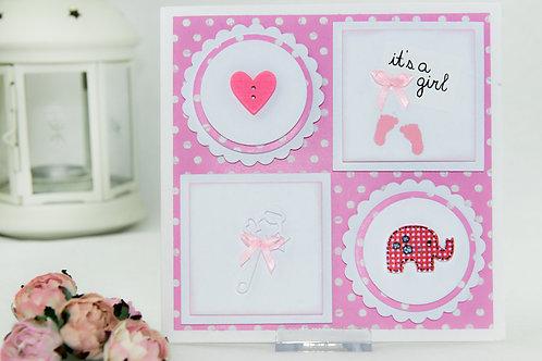 Baby cards - elephant