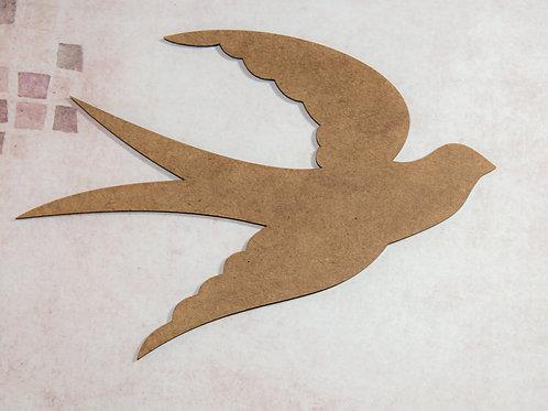 MDF Bird 2  - 20 cm x 13.5 cm