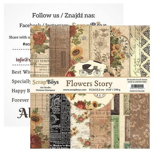 ScrapBoys Flower Story 6x6 Paper Pad -FLST-09