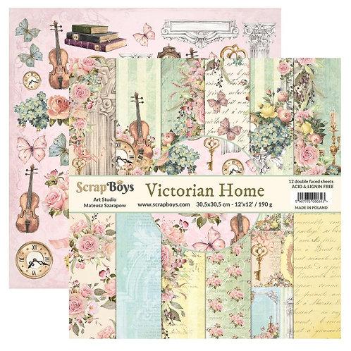 ScrapBoys Victorian Home 12x12 Paper Pad - VIHO-08