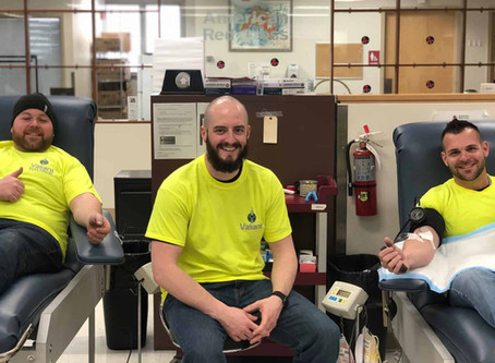 Valiant Construction Crew Take a Moment to Give Blood