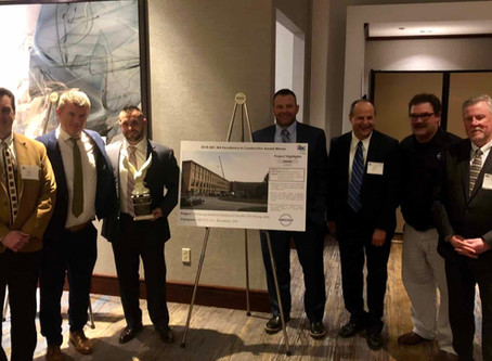 Valiant America's Mechanical Contractor Receives 'Excellence in Construction' Award for Work Complet