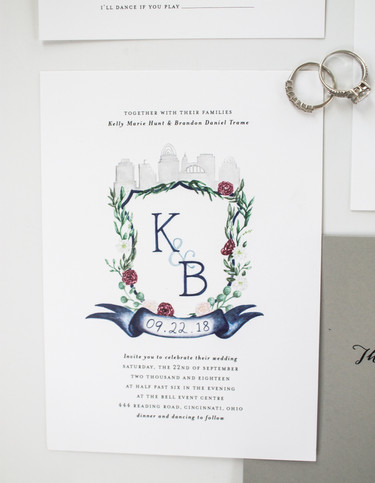 Wedding Crest Invites