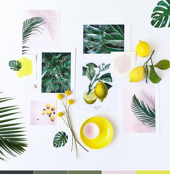 lemon, tropical, color palette insipration