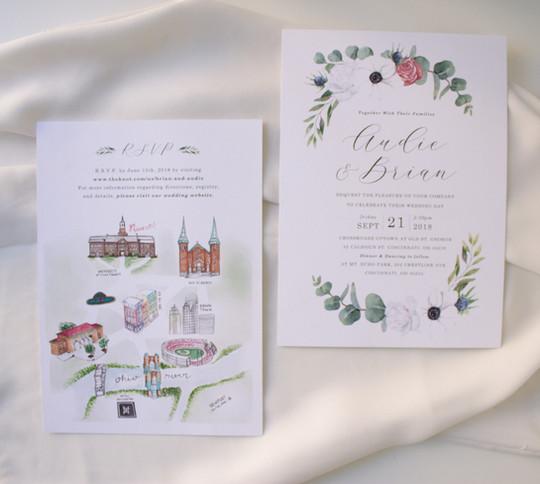 Wedding Watercolor Map