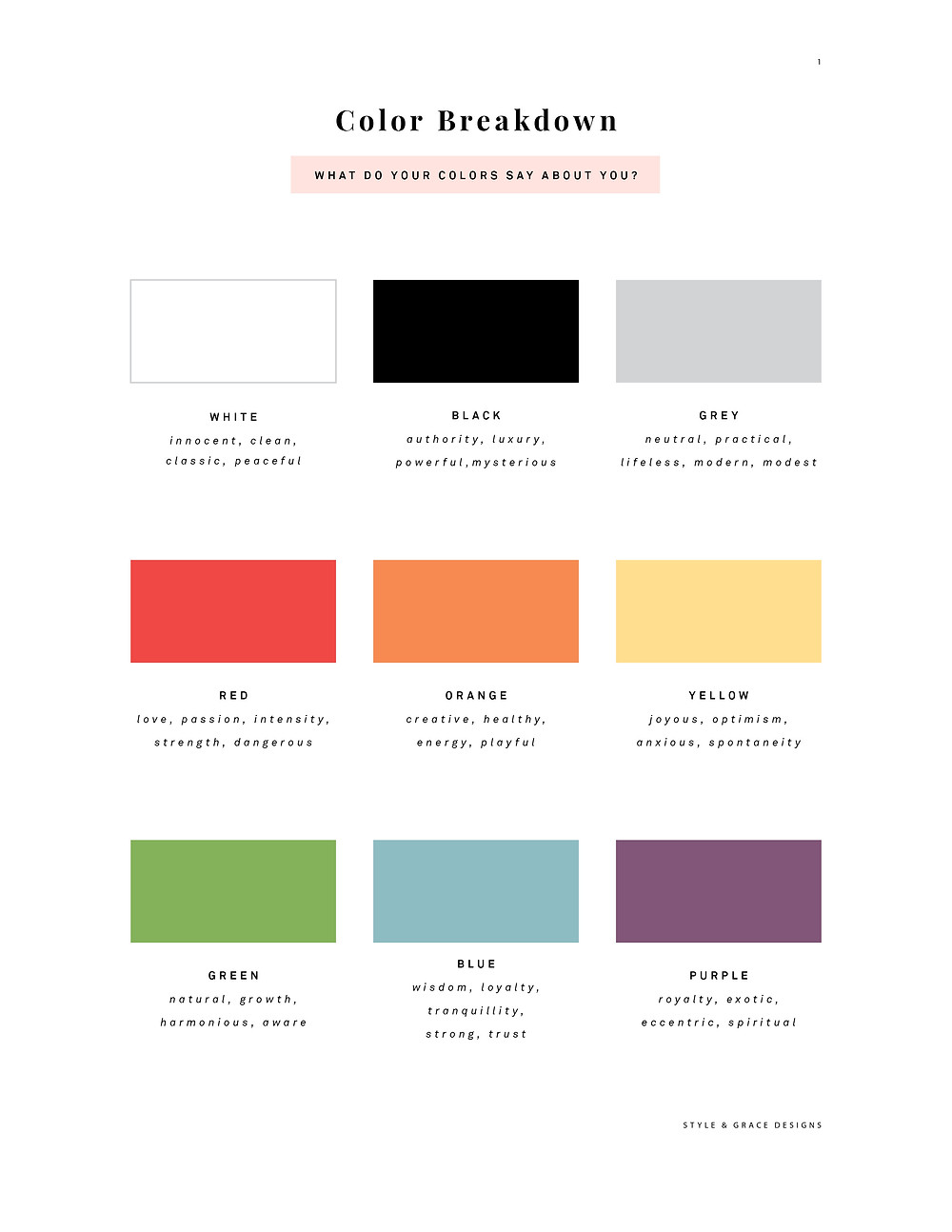 color palette, picking colors, color meaning