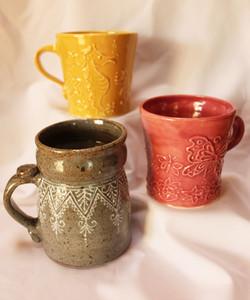 Henna Mugs and Tankard