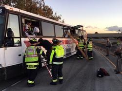 Bus accident rescue 2017