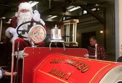 Santa Claus at Fire Station 21