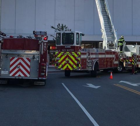 Fire truck on fire call