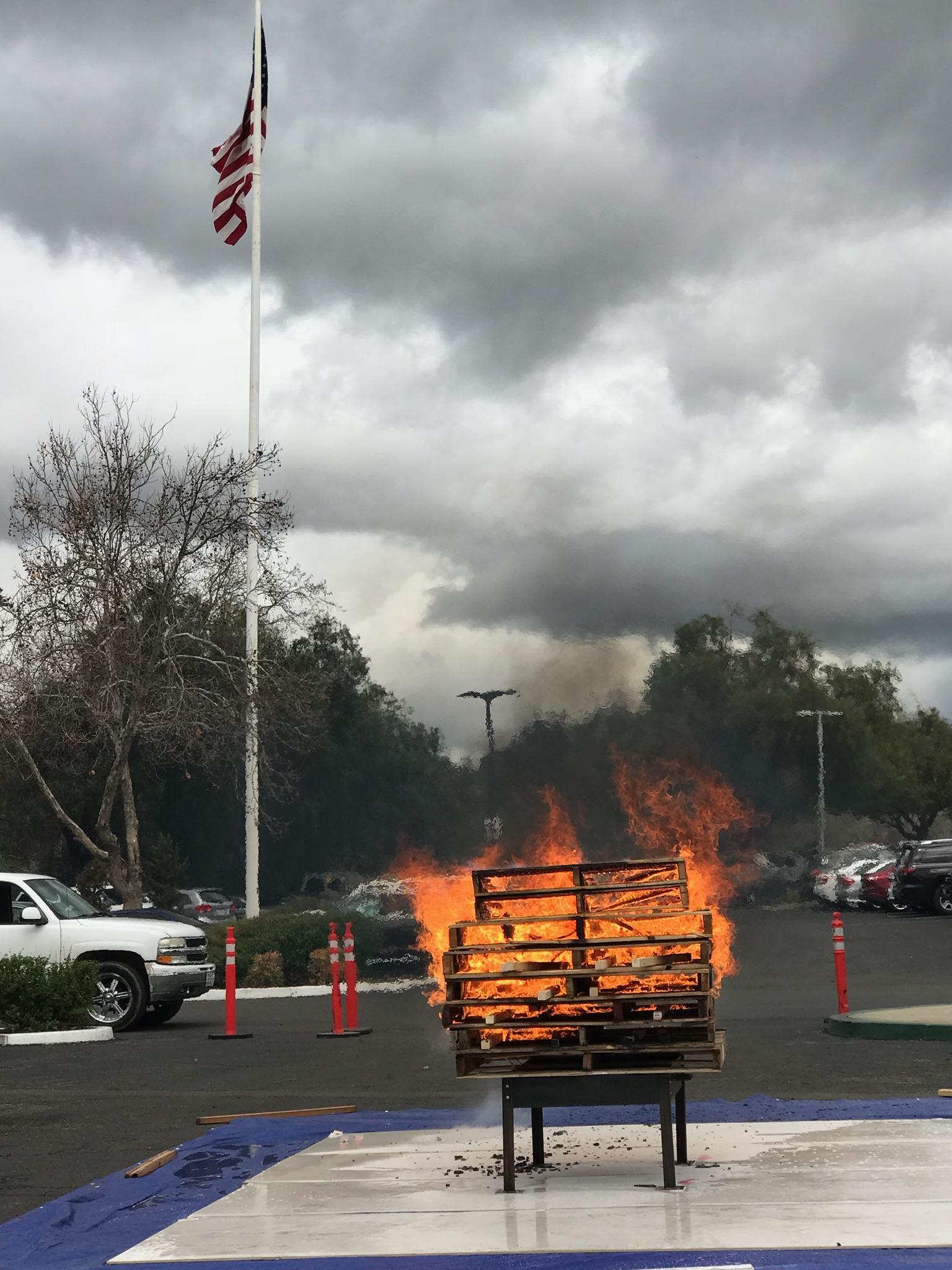 Pallet burning for training