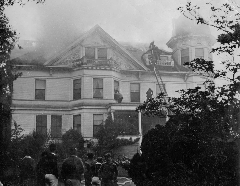 Belmont Ralston Mansion Fire