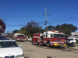 Fire engine on fire call