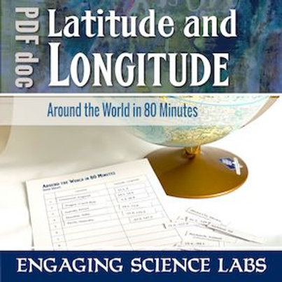 Latitude and Longitude Activity: Map Skills; Finding Locations on a Globe or Map