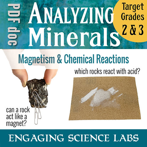 Rocks and Minerals: Test Rock Magnetism and Acid Reactivity