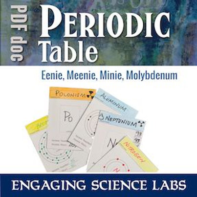 Periodic Table of Elements Activity: Make Your Own | Use as a Card Sort Activity