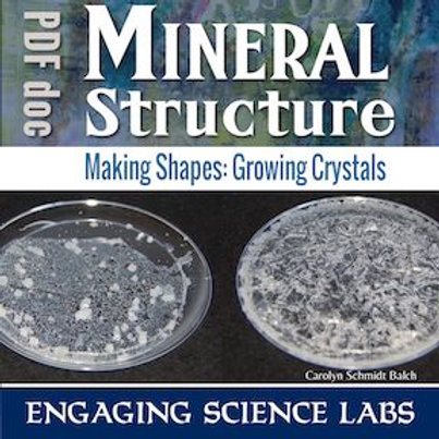 Growing Crystals from Common Salts: Compare their Geometry to Minerals