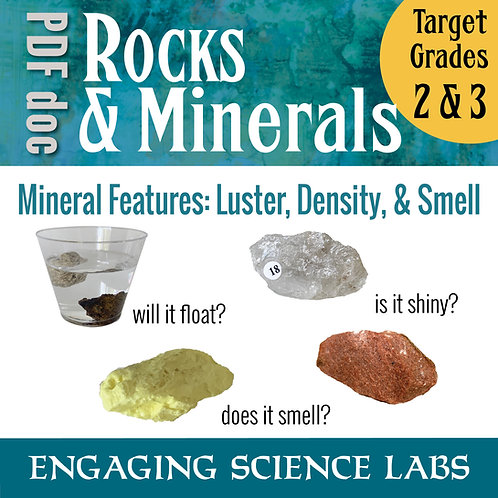 Rocks and Minerals: Study Luster and Density in Rocks and Minerals 3 Labs