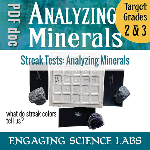 Rocks and Minerals: Compare Rocks with their Streak Color Mineral Analysis Lab